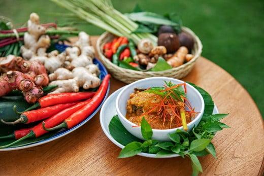 Balinese food ingredients, Indonesia.