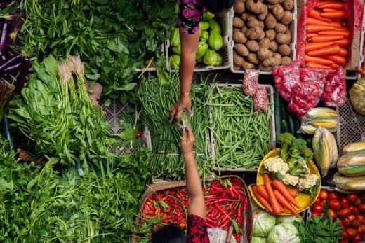 Vege market, Bali, Asia.