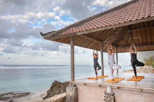 Yoga retreat, Bali, Indonesia.