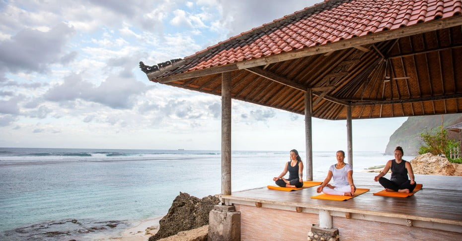 Yoga retreat, Bali, Indonesia.