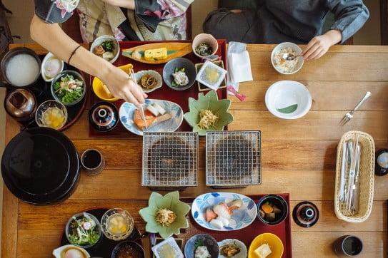 Japanese breakfast, Japan.