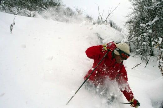 Snow in Niseko, Japan.