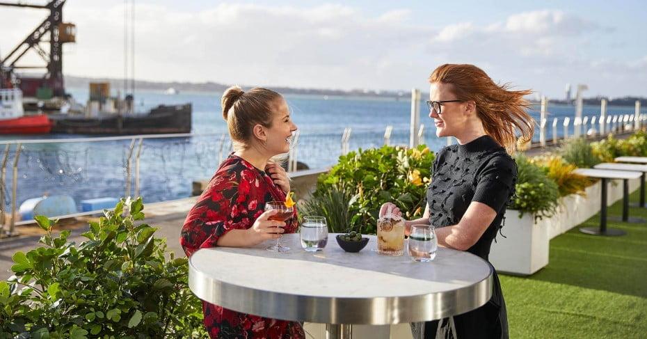 Ladies enjoying cocktails in Auckland.