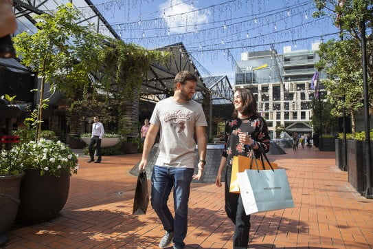 Shopping in Auckland, New Zealand.