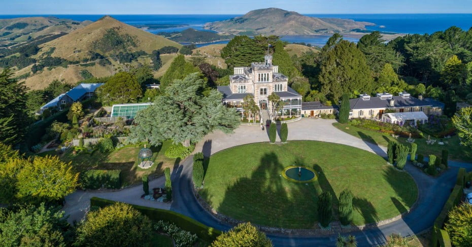 Larnach Castle from above.