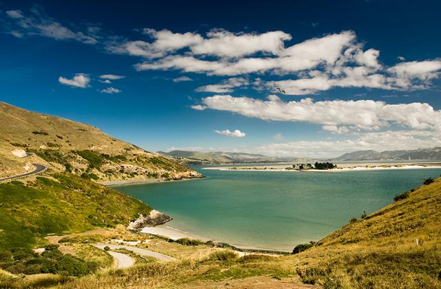 Otago Harbour, Dunedin, New Zealand.