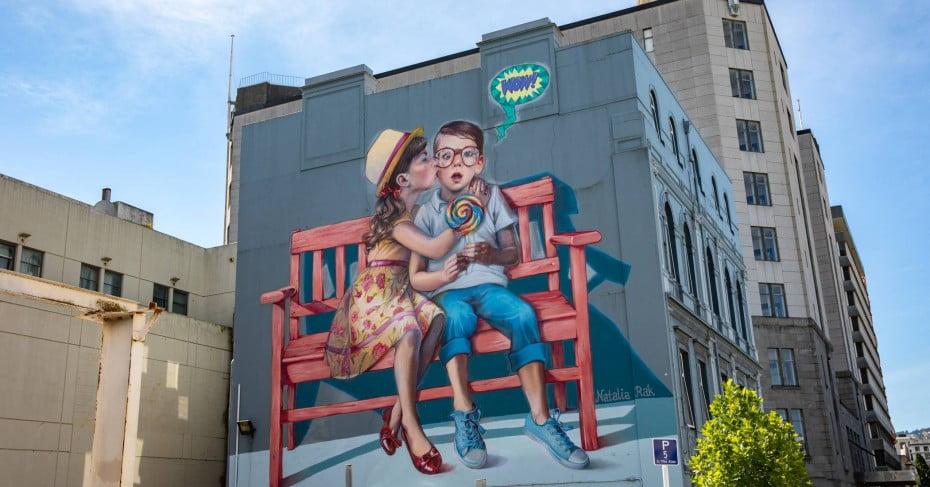 Dunedin street art.
