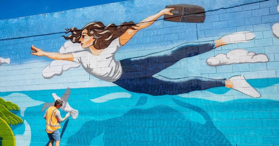 Dunedin street mural.