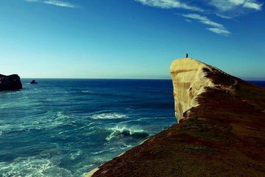 Dunedin's Tunnel Beach.