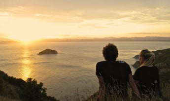 Sunrise at East Cape Lighthouse, Gisborne, New Zealand.