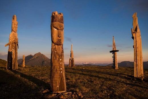 Mount Hikurangi at sunrise, Gisborne, New Zealand.