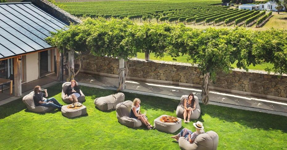 Ladies relaxing at a vineyard.