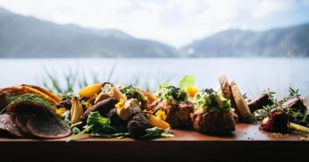 A platter by the Marlborough Sounds.