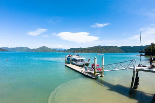 The Pelorus Mail Boat on the Marlborough Sounds.
