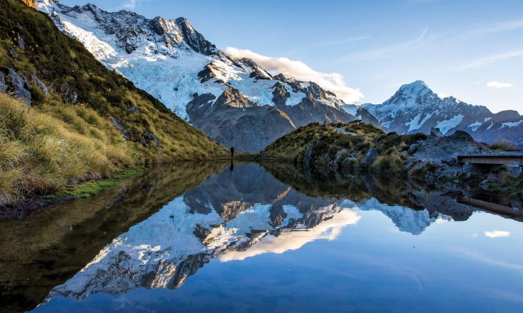 Sealy Tarns Track, Mount Cook, New Zealand.