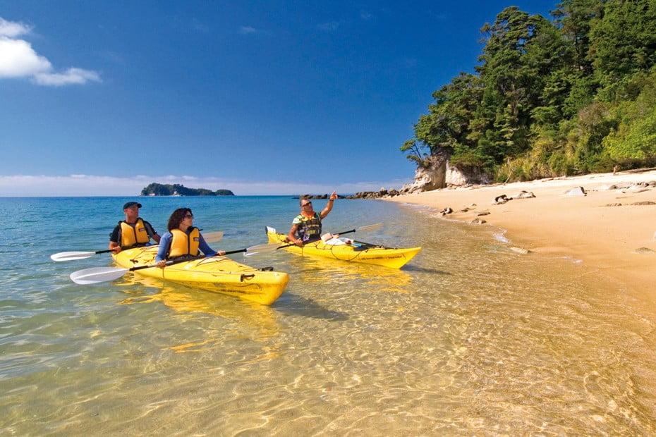 Kayaking, Abel Tasman, New Zealand.