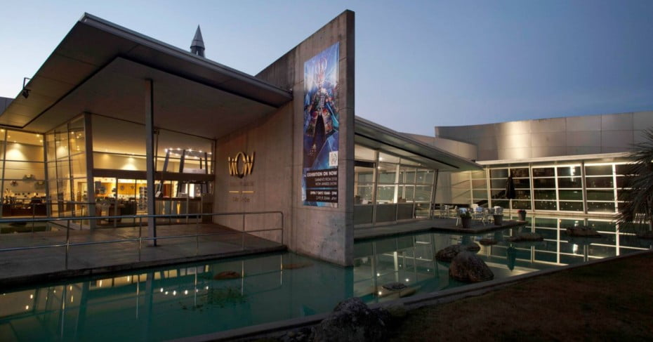 National World of Wearable Art Museum in the Evening.