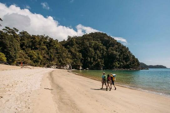 Walking in Abel Tasman.