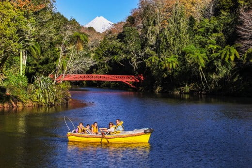 Boating, Pukekura Park, New Plymouth/Taranaki, New Zealand.