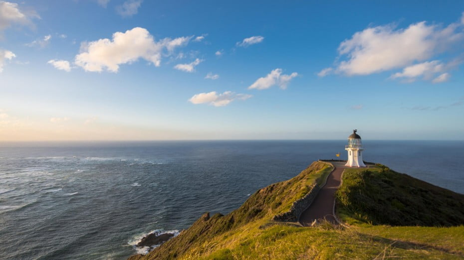 At Cape Reinga, the Pacific Ocean joins the Tasman Sea for a jaw-dropping display of natural beauty and power.
