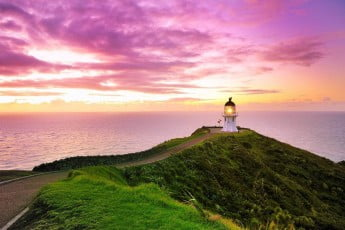 cape reinga lighthouse sunrise, New Zealand.