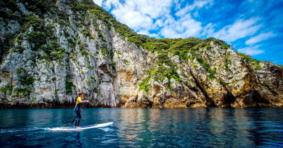 Northland Poor Knights Islands paddleboarder, New Zealand.