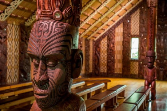 inside meeting house waitangi treaty grounds northland