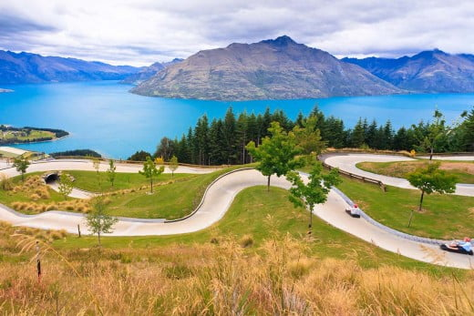 The luge, Queenstown.