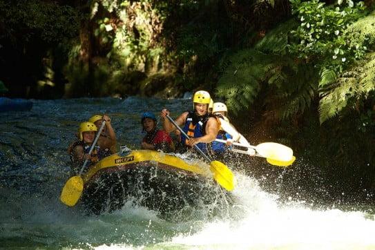 Rafting on the Kaituna River, Rotorua.