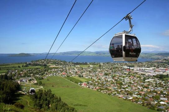 Skyline gondola, Rotorua, New Zealand.