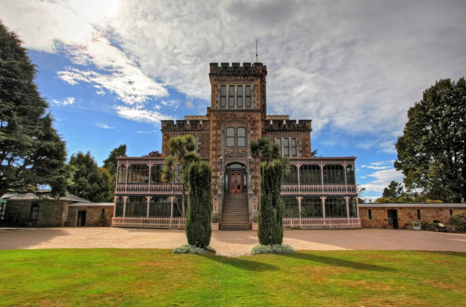 Situated on the picturesque Otago Peninsula, Larnach Castle is New Zealand's only castle.  It took more than 200 workmen three years to build the Castle shell and master European craftsmen spent a further 12 years embellishing the interior.