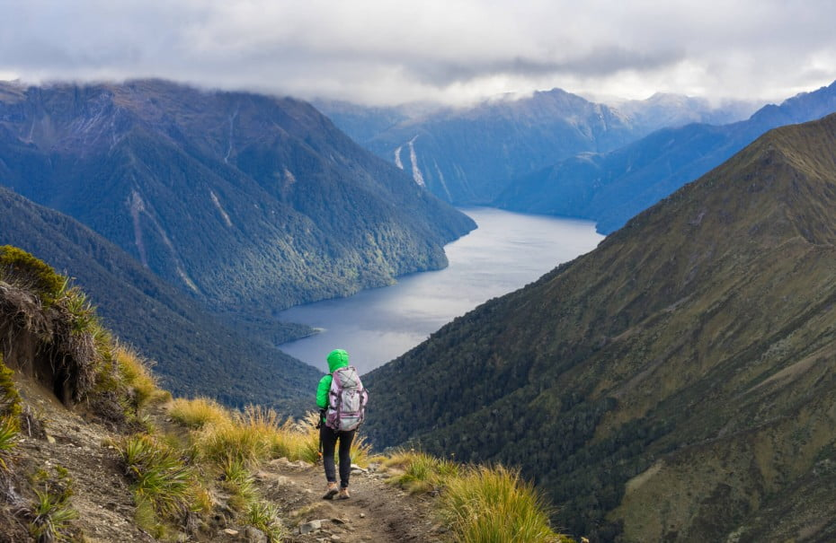 Walking the Kepler track will give you unparalleled views of mountains, forests, waterfalls and glaciered valleys