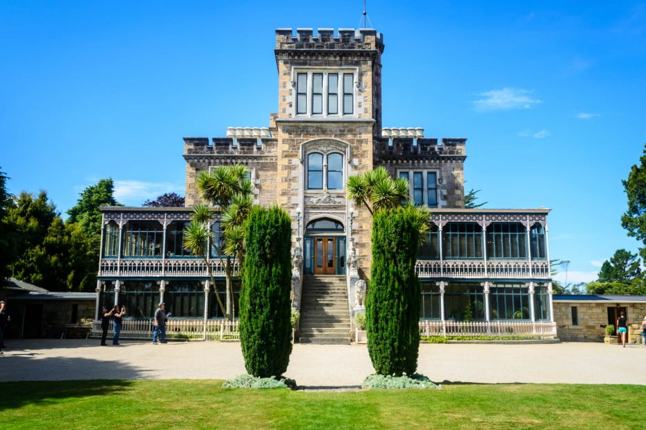 . Larnach Castle in Dunedin is built up on the ridge of the Otago Peninsula, and invites visitors from all over to come in and admire the tower, ballroom, historic stables and outbuildings.