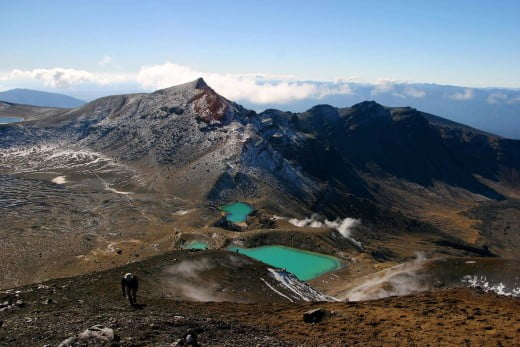Tongariro alpine crossing, Taupo, New Zealand.