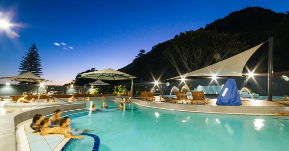 Mount Hot Pools, Tauranga, New Zealand.