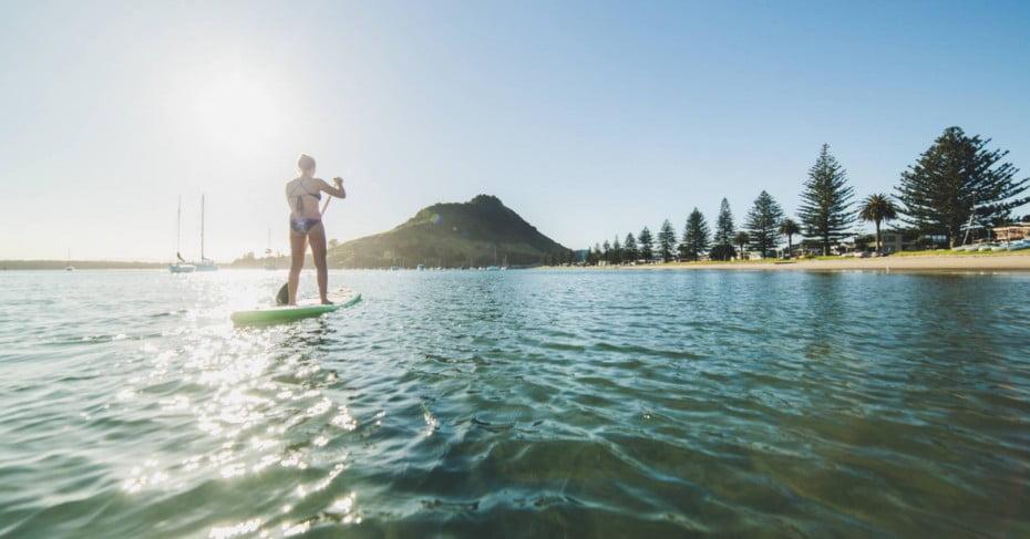 SUP Pilot Bay, Tauranga, New Zealand.