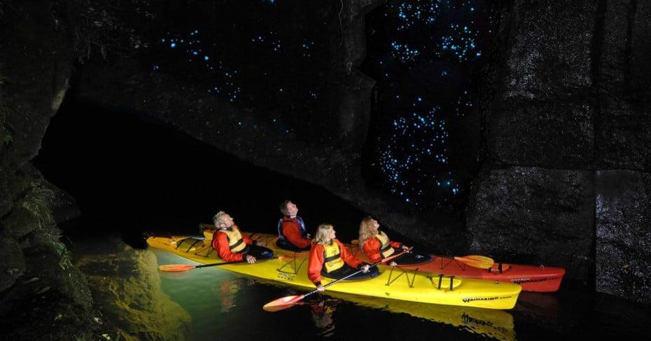 Waimarino Glow Worm Kayak Tour, Tauranga, New Zealand.