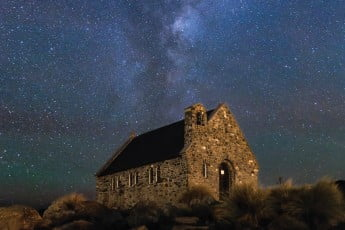 Church of the Good Shephard, Lake Tekapo, New Zealand.
