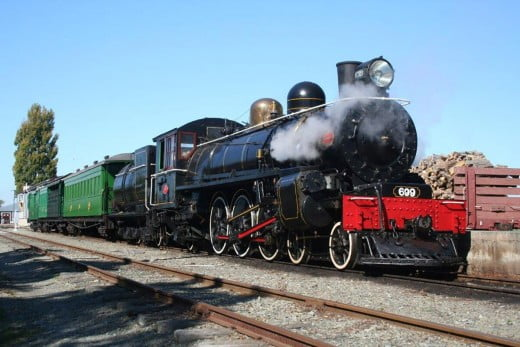 Steam engine, Pleasant Point Museum and Railway, Timaru, New Zealand.