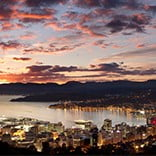 Wellington at dawn, New Zealand.