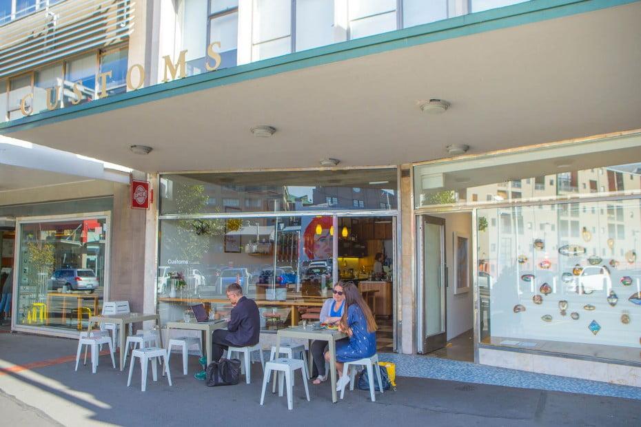 Customs Café, Wellington, New Zealand.