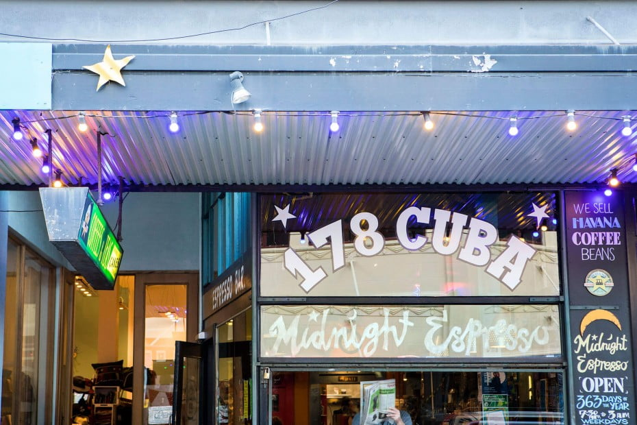 Midnight Espresso Café, Wellington, New Zealand.