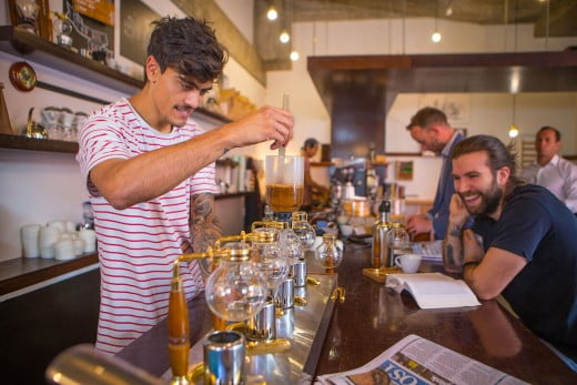 Lamason Brew Bar, Lombard Lane, Wellington, New Zealand.