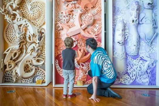 Museum of New Zealand Te Papa in Wellington, New Zealand.