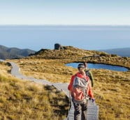 ニュージーランドでトレッキング