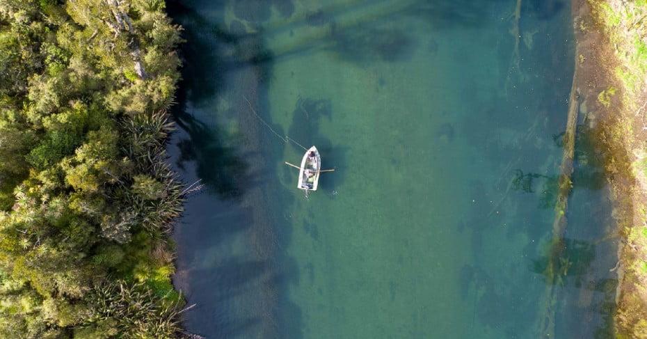 Aerial view of Lake Brunner, West Coast, NZ