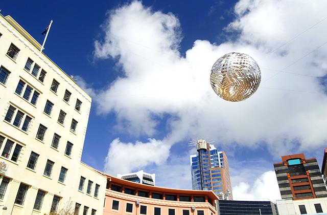 Civic Square, Wellington, New Zealand.