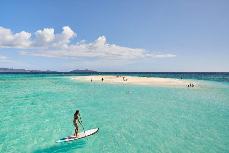Water paddling in Fiji.
