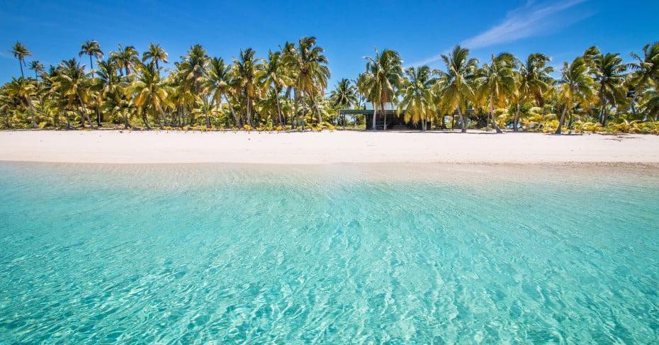 Beach, Aitutaki, Cook Islands.