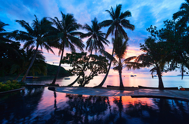 Sunset in Fiji.